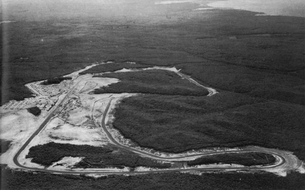 Aerial view of the track in 1957